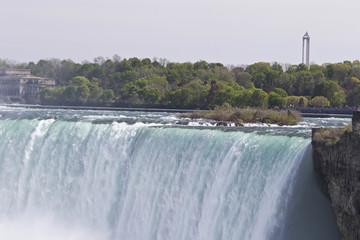 Beautiful isolated picture with the amazing Niagara falls from Canadian side