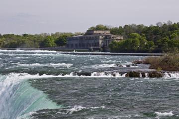 Beautiful isolated image of the amazing Niagara falls Canadian side