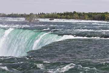 Beautiful isolated picture of the amazing Niagara falls Canadian side