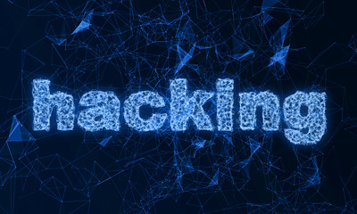 Abstract over the hacking. The inscription hacking of digital communication