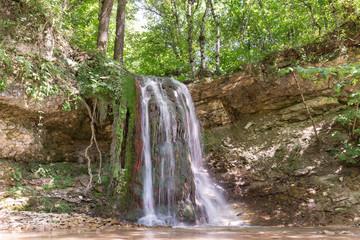 Waterfall on the river Khodz. Russia, Krasnodar Krai