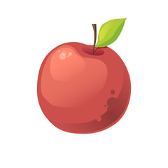 vector red apple on a white background