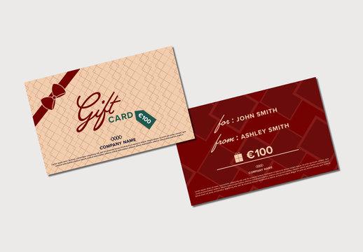 Gift Card Holder Mockup
