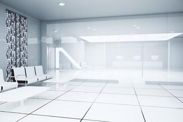 White business interior