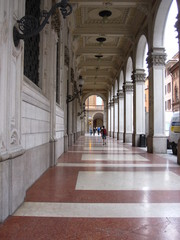 Covered Loggia Street views in Bologna Italy