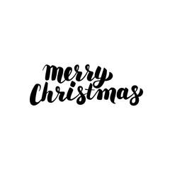 Merry Christmas Handwritten Calligraphy