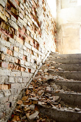 Bright stairs, bricks - Jasne schody, cegły