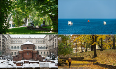 Four seasons in Bulgaria, photo montage