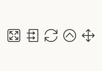75 Minimalist Arrow Icons