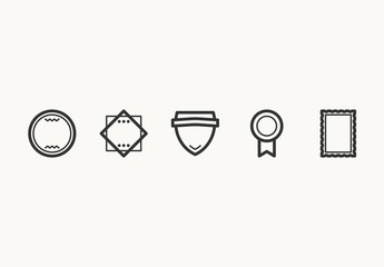 25 Minimalist Badge and Label Icons