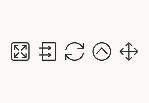 75 Minimalist Arrow Icons