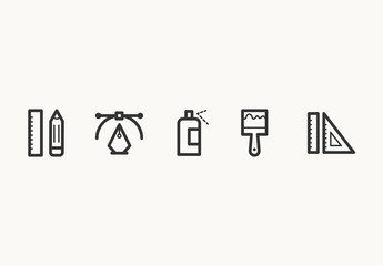 40 Minimalist Design Icons