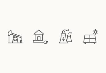 40 Minimalist Energy Icons