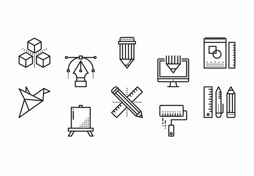 35 Black and White Design Icons