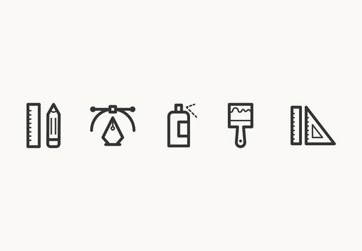 40 Minimalist Design Icons