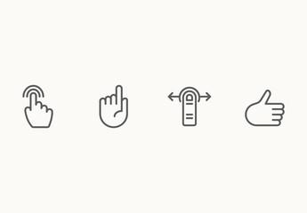25 Minimalist Hand Gesure Icons