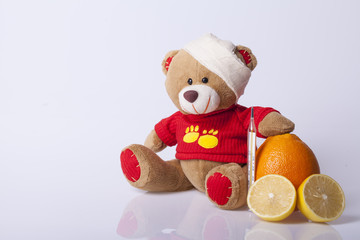 Bear Toy is ill