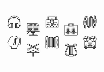 25 Black and White Music Icons