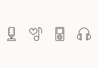 65 Minimalist Music Icons