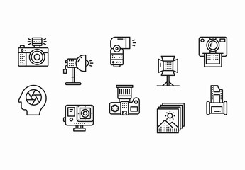 18 Black and White Photography Icons