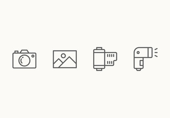 60 Minimalist Photography Icons