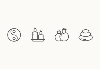 20 Minimalist Spa and Health Icons