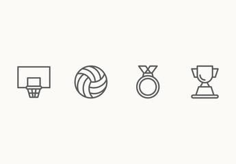 65 Minimalist Sports Icons