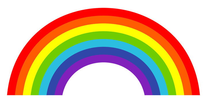 Colorful trendy icon of rainbow . Vector illustration