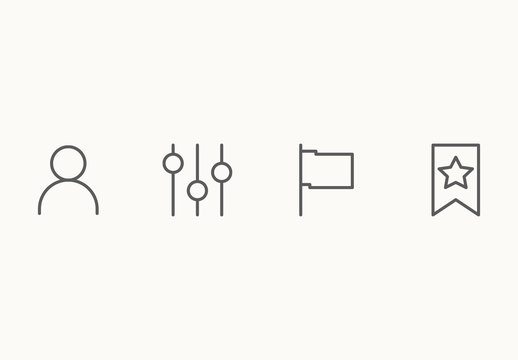 70 Minimalist Icons for UI and UX Interfaces