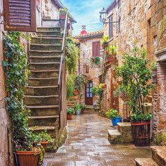 Stara Włoska uliczka 3D