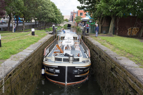 grand canal near wilton terrace dublin ireland stock