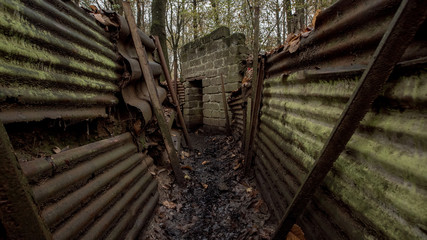 First World War trenches, Belgium