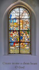 Window of a Dutch Protestant church, Amsterdam