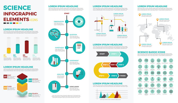 Science education infographic elements