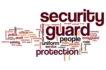 Security guard word cloud