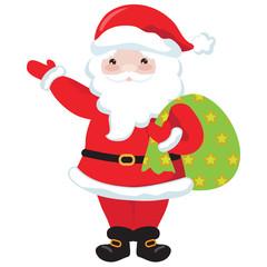 Santa Claus vector cartoon illustration
