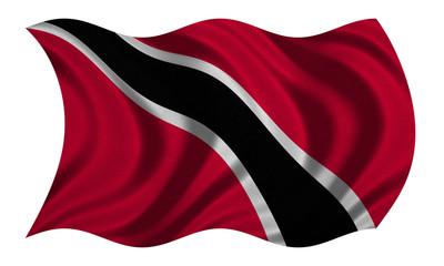 Trinidad and Tobago flag waving, fabric texture