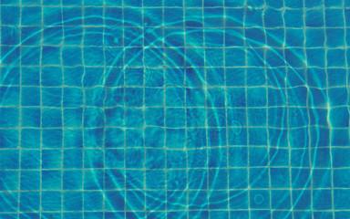 blue water swimming pool pattern