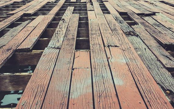 Decaying wood floors