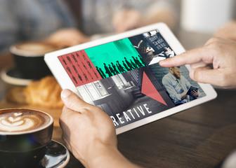 Digital Media Technology Graphic Concept