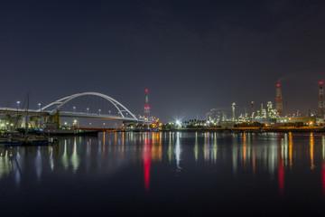 高速道路と工業地帯