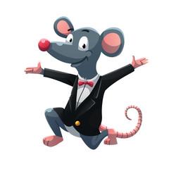 Congrats rat in tuxedo suit