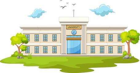 beautiful university cartoon