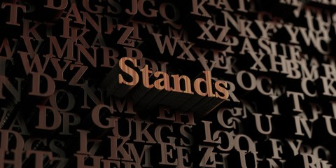 Stands - Wooden 3D rendered letters/message.  Can be used for an online banner ad or a print postcard.
