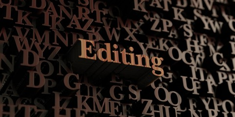 Editing - Wooden 3D rendered letters/message.  Can be used for an online banner ad or a print postcard.