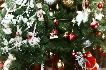 christmas tree decor macro
