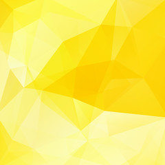 Background made of triangles. Square composition with geometric shapes. Eps 10 Yellow color