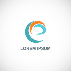 abstract letter e loop logo