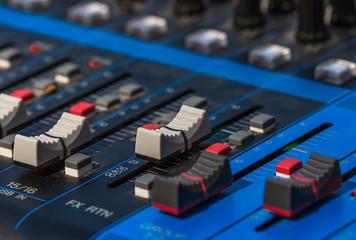 equipment for sound, mixer sound control