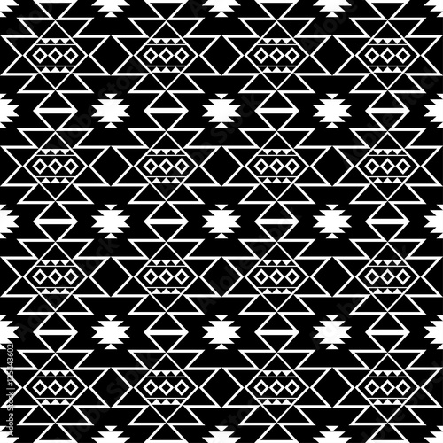 Ethnic Boho Seamless Pattern Print Repeating Background